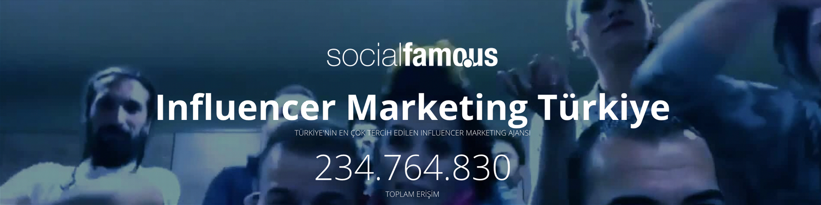 SocialFamous Influencer Marketing banner fotograf