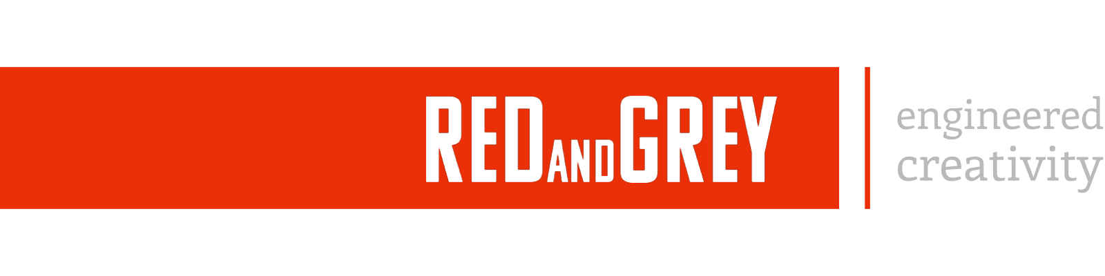 RED and GREY banner fotograf