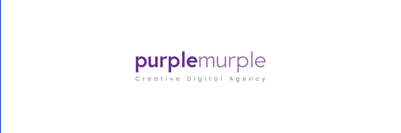 Purplemurple banner fotograf