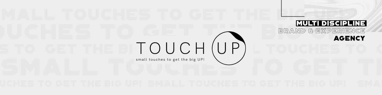 Touch Up banner fotograf