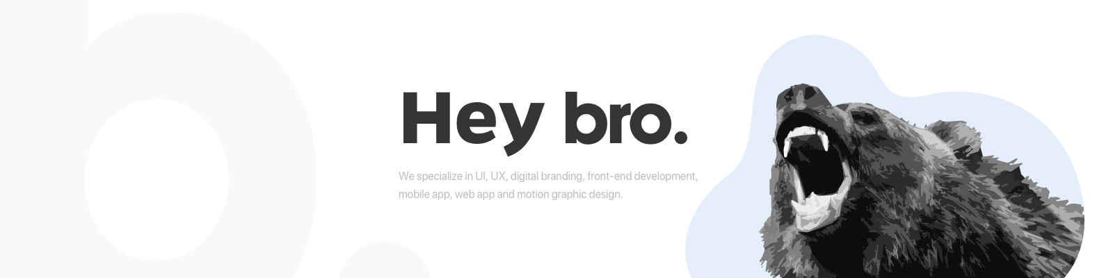 Bro. Data Driven Design Company banner fotograf